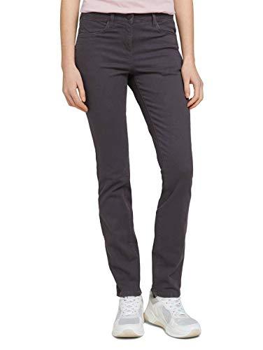 TOM TAILOR Damen 1025835 Alexa Slim Jeans, 12508-Coal Grey, 38W / 30L