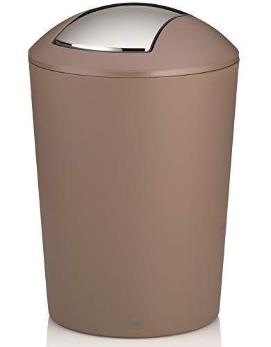kela Cubo de Tapa abatible Marta 5 litro, Beige Taupe, One Size