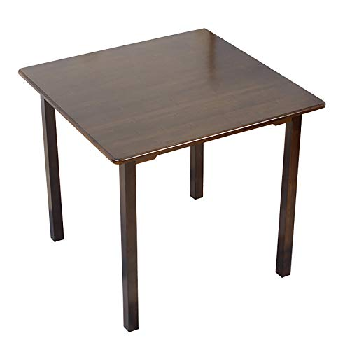ZWJLIZI Bamboo Square Table, Small-Sized Solid Wood Dining Table, Simple Study Table/Leisure Table, Coffee Table with Various Heights (Size : 60x60x62cm)