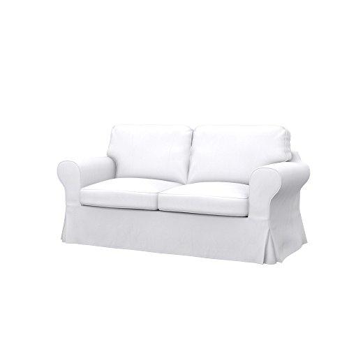 ikea sofas Soferia Replacement Cover for IKEA EKTORP 2-seat Sofa-Bed, Fabric Eco Leather White