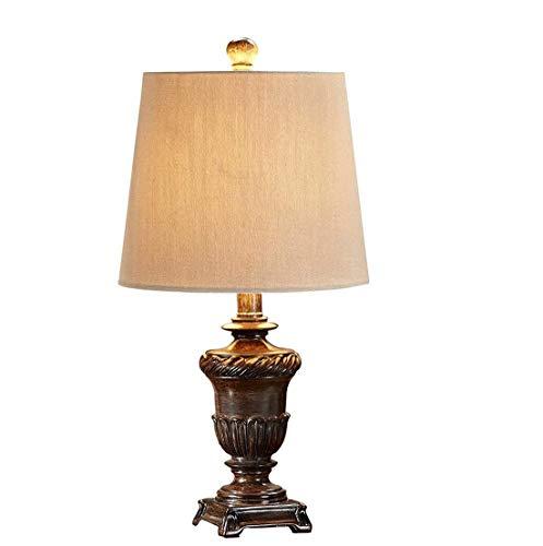 GLYYR Lámpara de Escritorio Decoración del hogar lámpara de Mesa Retro Dormitorio Creativo lámpara de Noche Pastoral país Estilo Europeo Sala de Estar Estudio Sala de Bodas lámpara de Mesa LED
