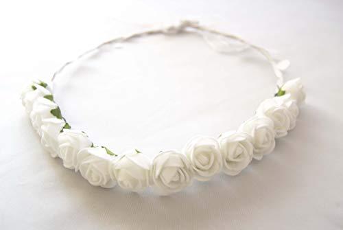 Diadema corona de comunión con flores blancas. Envío GRATIS