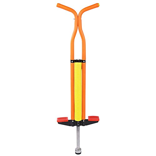 Ejoyous Pogo Stick for Kids, Jackhammer Jumping Stick Bounce Jumper Balance Training Fitness Exercise Toy with Rubber Hand Grip and Non Slip Foot Pad for Children Boys Girls, Orange