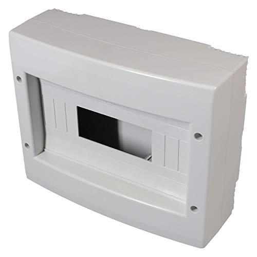 Electraline 60443 Centralino da Parete Senza Sportello, Bianco, 12 Moduli