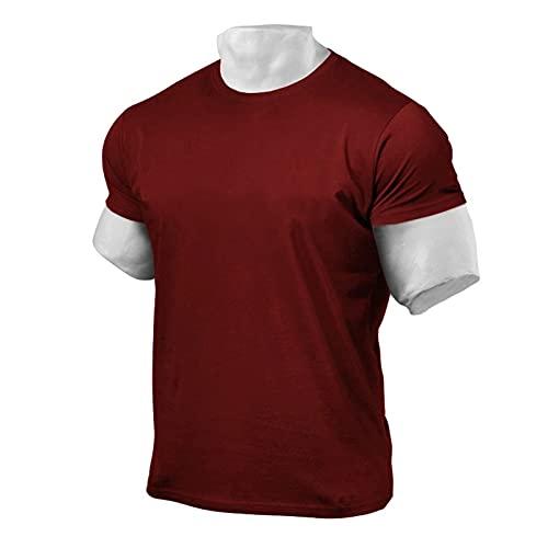 LDJ Basic - Maglietta sportiva da uomo, a maniche corte, Colore: rosso, M