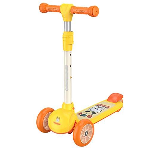 Scooter para niños Scooter para niños anti-colisión con altura ajustable, scooter de niños pequeños con ruedas de flash amplias, scooters para niños de 3 a 8 años de edad Scooter para niños pequeños