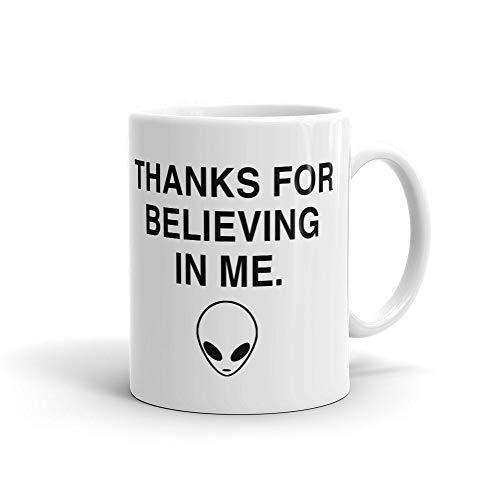 DKISEE Divertida taza extranjera, taza espacial, taza de grunge, taza tumblr, regalo para ella, regalo para amigo, lindo extranjero taza con gráfico de alienígena #a484