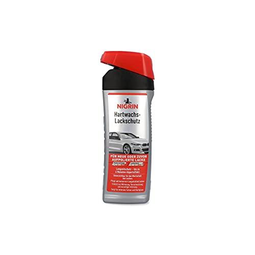 NIGRIN Hartwachs-Lackschutz, 500 ml Flasche, Auto Wachs, intensiviert Farben, bringt brillanten Hochglanz, bis zu 6 Monate Abperl-Schutz