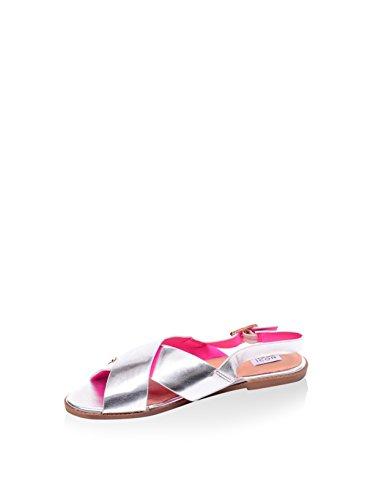 Noos Icon Damen Sandale, silberfarben, 37 EU