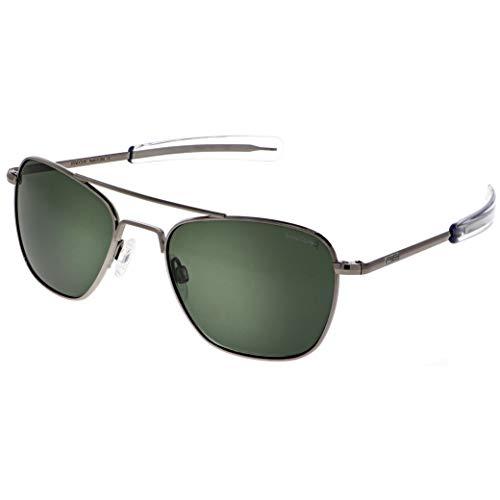 Randolph USA | Gafas de sol de aviador clásicas Gunmetal para hombres o mujeres 100% UV