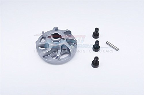 Traxxas Craniac Upgrade Pièces Aluminium Spur Gear Adapter (for Original Spur Gear) - 1Pc Set Grey Silver