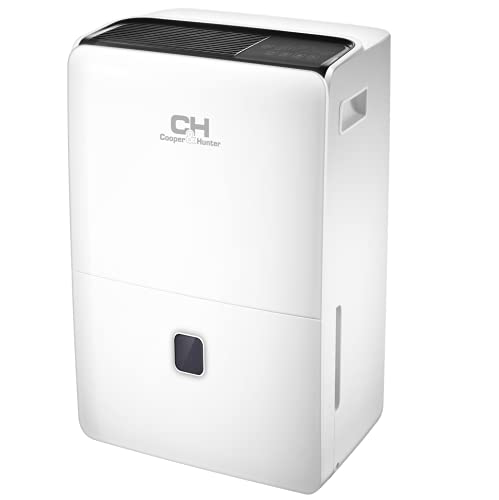 Cooper & Hunter Dehumidifier with Drain Pump 60 Pint (95 pint 2012 DOE standard) Dehumidifiers for Large Room or Basements 10L Water Tank with Drain Hose