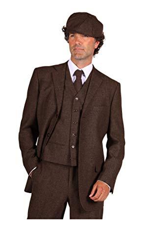 narrenkiste T3064-1300-56 Peaky Blinder - Chaqueta para hombre (talla 56), color marrón
