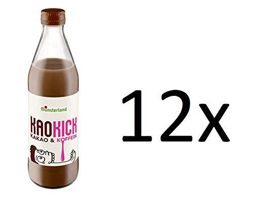 12 Flaschen a 310 ml Münsterland Kaokick Kakao & Koffein in Glasflaschen
