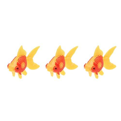 Balacoo 3 Stück Aquarium Aquarium Künstlich Schwimmend Kunststoff Dekor Goldfisch Ornament Aquarium Dekoration