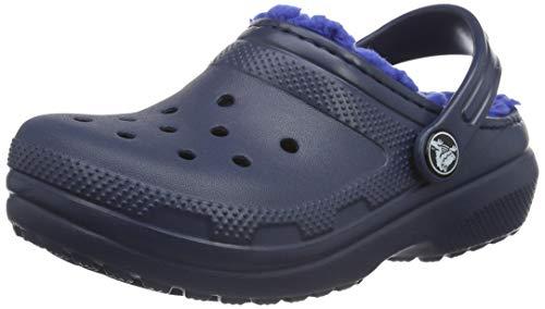 Crocs Unisex-Kinder Classic Lined K' Clog, Navy/Cerulean Blue, 25/26 EU