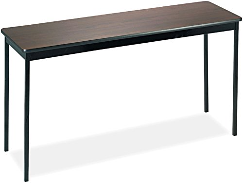 Barricks UT1860WA Utility Table Rectangular 60w x 18d x 30h WalnutBlack