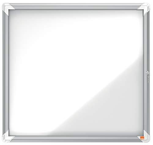 Nobo Vitrina Magnética para Exteriores con Cerradura para 6 Hojas A4, Premium Plus, Blanco, 1902578