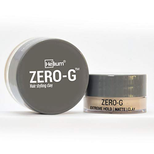 Helium For Men Zero-G Hair Styling Clay (30g) - For Extreme Hold | Matte Finish. Contains Organic Extracts & Essential Oils. Masculine Fragrance.