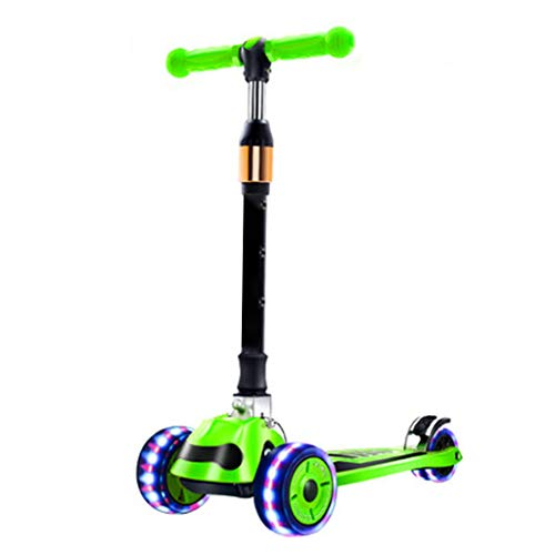 Lowest Price! 4 Wheel Kick Scooter Children from 2 to 16 Year-Old Sliding PU Flash Wheel Outdoor Rec...