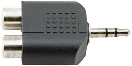 AKORD–Clavija estéreo de 3,5mm Macho a 2RCA Hembra Jack Audio y Splitter Adaptador