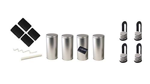 James Premium Kaffee- und Kaffeepads-Dose,NEU beschriftbar alle 4 mit Padheber