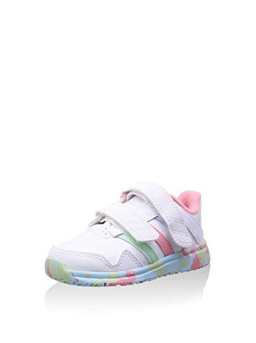 adidas Snice 4 CF I - Zapatillas De Running Niños, Blanco / Rosa / Verde / Azul, 24