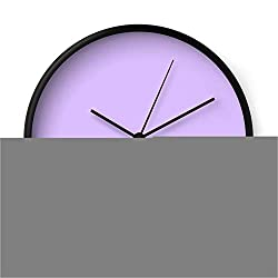 Society6 Lavender by Color Obsession on Wall Clock - Black - Black