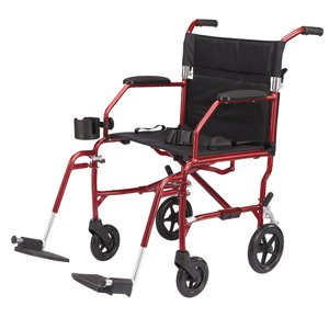 Medline Heavy Duty Bariatric Transport Chair, Extra Wide 22