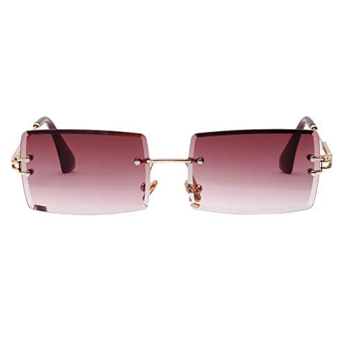 Sharplace Damen Getönte Sonnenbrille Rectangle Damenmode UV400 Brille Partybrillen Sonnenbrillen - Lila, Onesize