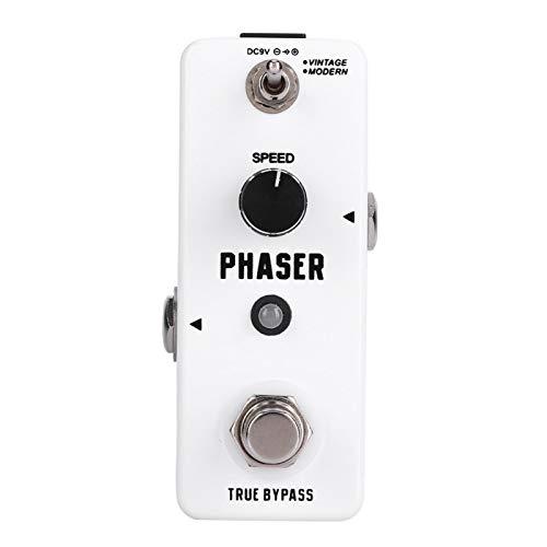 Pedal de efecto Phaser portátil práctico para principiantes de guitarra para guitarrista