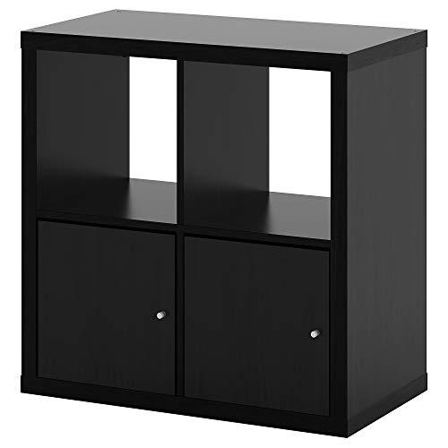 Rekkasten met deuren zwart-bruin, gemonteerde grootte Breedte: 77 cm Diepte: 39 cm Hoogte: 77 cm Max. Laad/plank: 13 kg