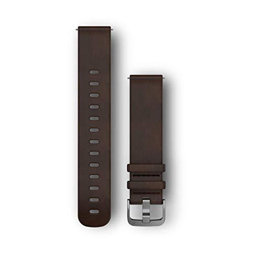 Garmin 010-12691-01 accesorio de relojes inteligentes Grupo de rock Marrón Cuero - Accesorios de relojes inteligentes (Grupo de rock, Marrón, Garmin, vívoactive 3 vívomove HR, Cuero, Acero inoxidable)