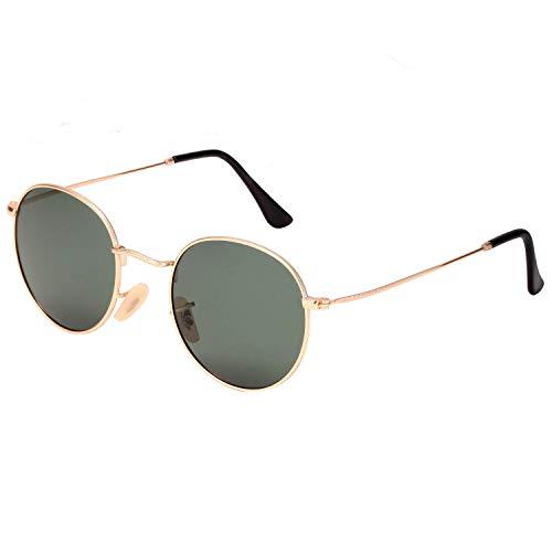 wearPro Retro Polarisiert Sonnenbrille Herren Damen Verspiegelt - Runde Retro Polarisierte Sonnenbrille Herren Damen Vintage