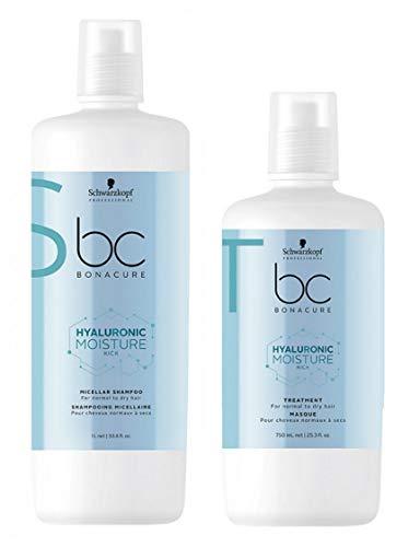 Schwarzkopf BC Bonacure Moisture Kick Duo Shampoo 1000ml + Feuchtigkeitskur 750ml