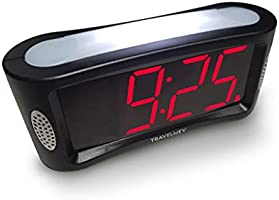 Travelwey Home LED Digital Alarm Clock - Outlet Powered, No Frills Simple Operation, Large Night Light, Alarm, Snooze,...