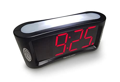 Digital Alarm Clock - Mains Powered, No Frills Simple Operation Alarm...