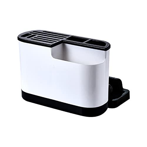 YANGYANG Allenzhang Titular de utensilio de Cocina Bloque de Cuchillo de plástico Tablero de Drenaje Tablero de Corte Tablero de Almacenamiento Estante Estante Organizador (Color : Black)