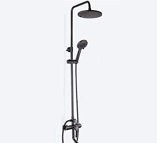 XUSHEN-HU Chrome Conjuntos de ducha ducha de mano 3 de masaje boquillas boquillas de cobre accesorios de acero conjunto mezclador de la ducha ducha de mano 9 pulgadas inoxidable con chorro redondo Bañ