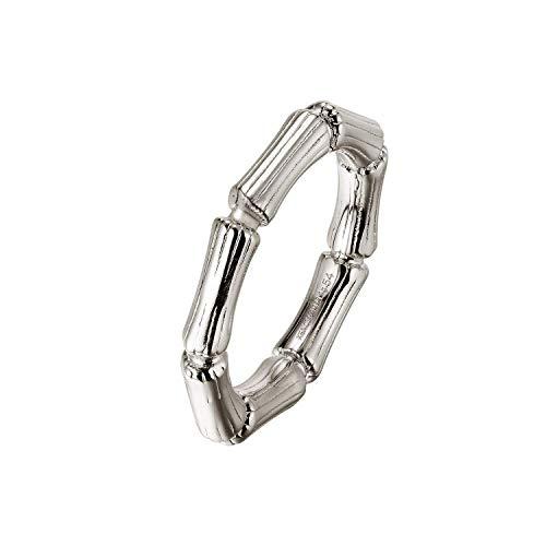 Xenox Damen-Ring BAMBOO aus 925er Sterlingsilber (silberfarben, 58)