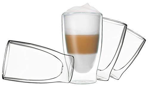 DUOS 4X 400ml doppelwandige Thermo Gläser Cocktail,Latte Macchiato by Feelino