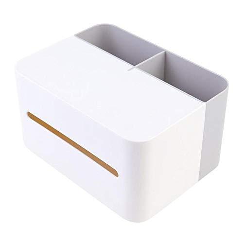 Wdonddonzjh Tenedor de caja de tejido El tejido de plástico multifunción Cajas de escritorio Talla caja de la servilleta de control remoto Organizar titular Sofá cama Organizador for Ministerio del In