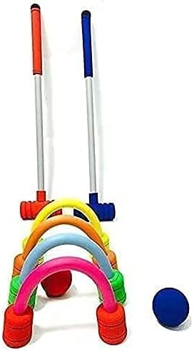 SZDYQ Set 2 Player Finally popular brand Garden Croquet Outlet sale feature with St Mallets Wooden and