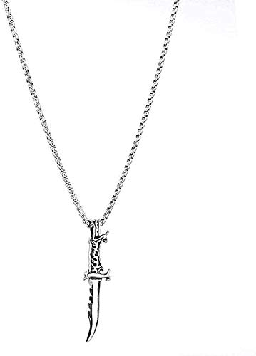 CCXXYANG Co.,ltd Necklace Necklace Stainless Steel Knife Necklace Men Jewelry Retro Domineering Titanium Steel Dagger Pendant Necklace Gift for Women Men Gifts