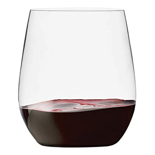48 Pack Plastic Stemless Wine Glasses Disposable 12 Oz Clear Plastic Wine Cups Shatterproof...