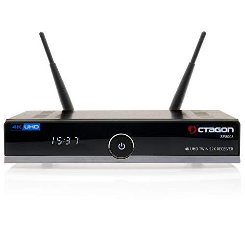 Octagon SF8008 UHD 4K Sat-Receiver Twin 2X DVB-S2X [HDR H.265 E2 Linux Dual WiFi]