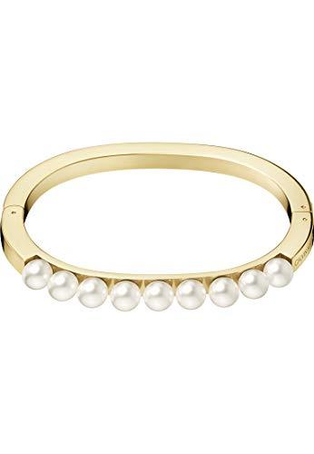 Calvin Klein Damen-Armreif Circling Edelstahl S Champagner 32011449