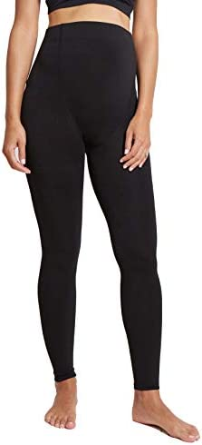 Ingrid Isabel Maternity Fleece Lined Footless Tights Over The Belly Black product image
