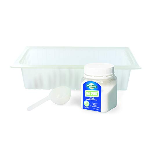 PetSafe Pet Loo Pee-Pod - Compatible with the PetSafe Pet Loo Portable Dog Potty System - Easy to Clean Up Urine Disposal Kit - Includes 7 Pee-Pod Trays and 1 Bottle of Wee Sponge Powder