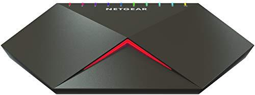 Netgear Nighthawk S8000 GS810EMX Switch Gaming Smart Managed Plus a 10 Porte Gigabit/10G Multi-Gig, con 2 Porte 10G/Multi-gig, Bassa Latenza per Streaming Reattivo, Alloggiamento Cool-Touch Desktop (Accessorio)